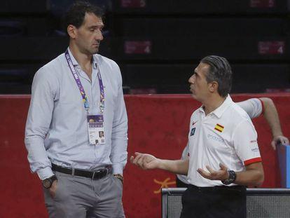 Jorge Garbajosa y Sergio Scariolo, en el pasado Eurobasket