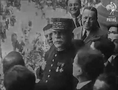 Joseph Joffre en Barcelona, en mayo de 1920.