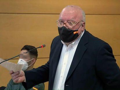 El comisario jubilado José Manuel Villarejo, durante la vista celebrada el pasado 15 de enero contra él por injurias y denuncia falsa de la que resultó absuelto.