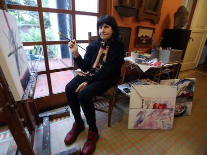 Roser Bru en su taller de Santiago de Chile, en agosto de 2016.