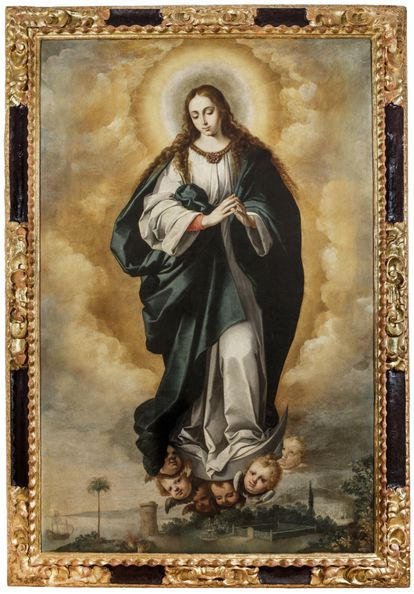 La Inmaculada atribuida a Murillo, tras la restauración.