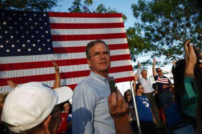 El precandidato republicano a la presidencia, Jeb Bush.