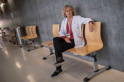 La psicóloga Inmaculada Carranza, en el centro de salud Castilla del Pino de Córdoba, el viernes.