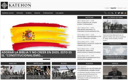 Captura de pantalla del portal Katehon.com/es