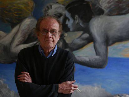Luis Eduardo Aute, en su casa de Madrid en 2015.