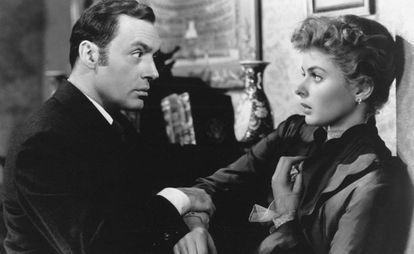 Ingrid Bergman y Charles Boyer en 'Luz que agoniza' (1944), de George Cukor.