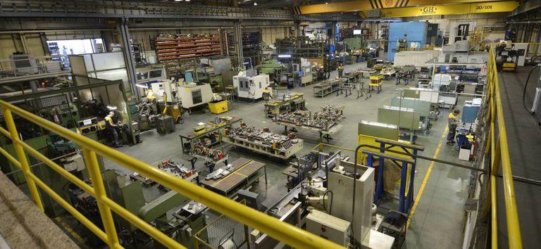 Un centro de producción de una empresa de componentes para la automoción.