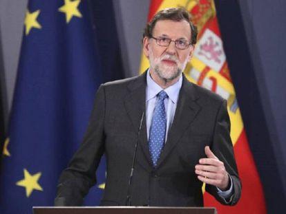 Mariano Rajoy durante una rueda de prensa en La Valeta, Malta.