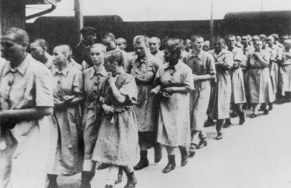 Prisioneras del campo de concentración de Auschwitz, en torno a 1944. /