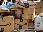 Cajas de Amazon Prime en Nueva York.