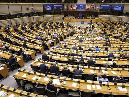 Momento de la sesión del Parlamento Europeo celebrada este miércoles en Bruselas.