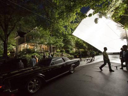 Un momento del rodaje en Georgia de la película 'Pesadillas'.