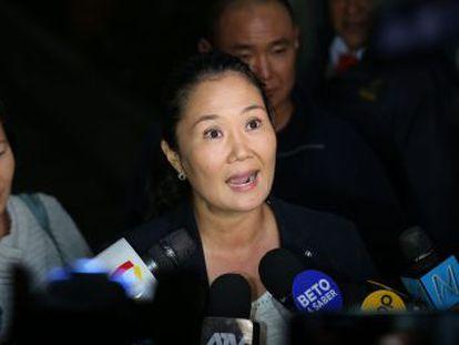 La líder de Fuerza Popular fue arrestada después de acudir a un tribunal peruano para ser interrogada por aportaciones de la constructora Odebrecht a su campaña electoral de 2011