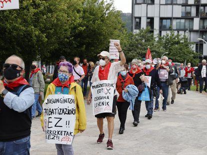 Manifestación de pensionistas por las calles de Bilbao el pasado 28 de junio.