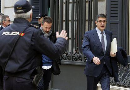 El presidente del Congreso de los Diputados, Patxi López, a su llegada al Palacio de las Cortes el pasado 2 de marzo.