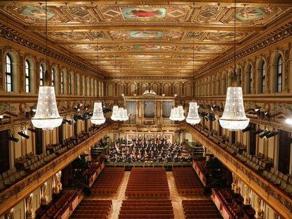 Ensayo general del Concierto de Año Nuevo de Viena dirigido Riccardo Muti.