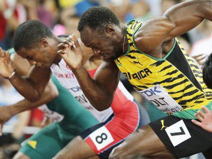 Usain Bolt, durante las semifinales de los 100 m lisos.