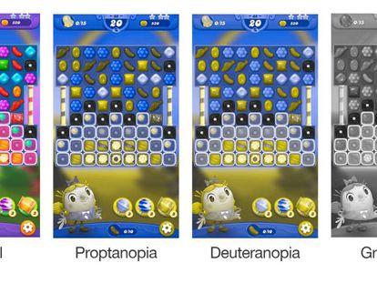 Captura con los cambios al modo daltónico de unos de los videojuegos