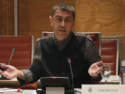 Juan Carlos Monedero, en una comparecencia en el Senado, en una imagen de archivo.