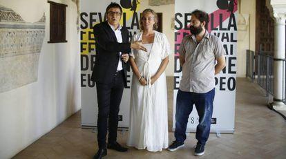 A la izquierda, el director del Festival de Cine Europeo de Sevilla, José Luis Cienfuegos.