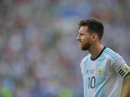 Messi, en el último duelo de Argentina ante Venezuela en Maracaná.