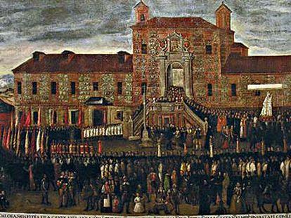 Fachada del hospital de Atocha, precursor del San Carlos y precedente del Reina Sofía.
