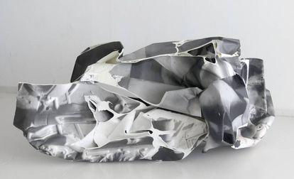 'Body Bouilding', de Alfredo Rodríguez, en la exposicióno 'Chasis', en Espacio Valverde.  