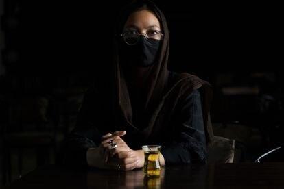 Virgo, de 17 años, durante su entrevista en Kabul con EL PAÍS.