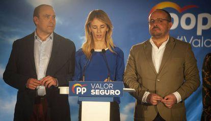 Daniel Serrano, Cayetana Álvarez de Toledo y Alejandro Fernández