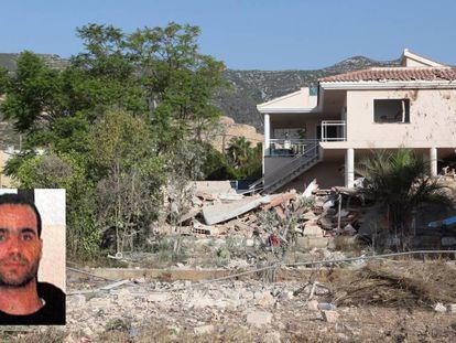 Los escombros de la casa de Alcanar donde se encontraron los restos mortales del imán de Ripoll, Abdelbaki Es Satty