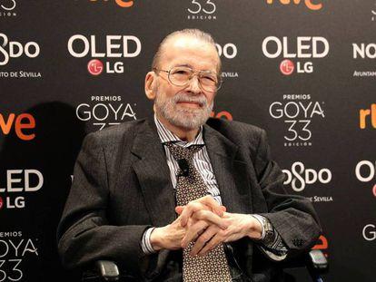 Narciso Ibáñez Serrador, Goya de Honor, a la entrada a la fiesta de los nominados en el Teatro Real. En vídeo, 'Chicho' agradece a la Academia el Goya de Honor 2019.