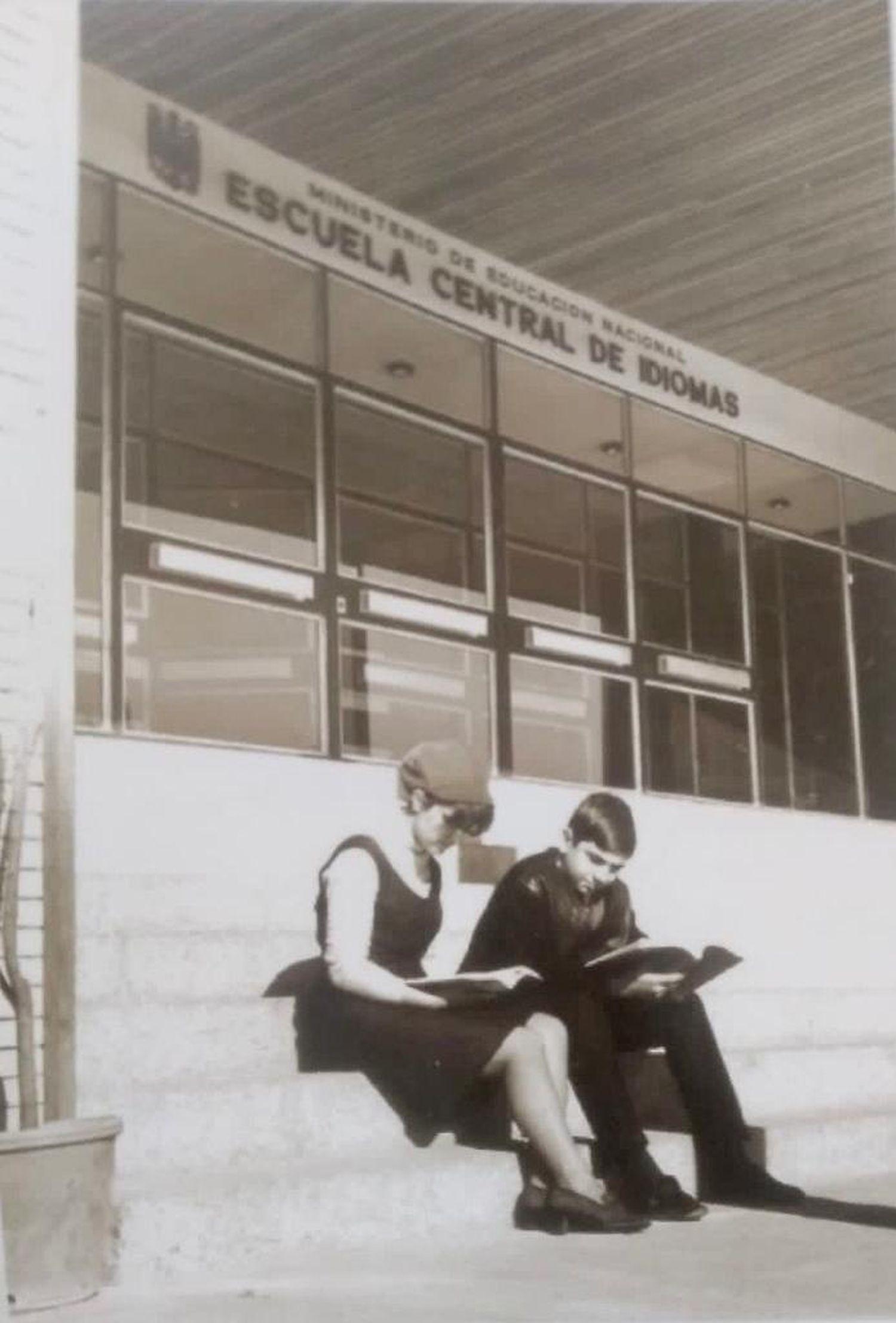 Fachada de la sede de la Escuela Oficial de Idiomas Jesús Maestro, en 1966.