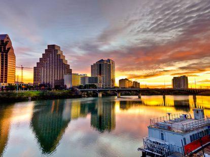 Vista de Austin y el río Colorado.