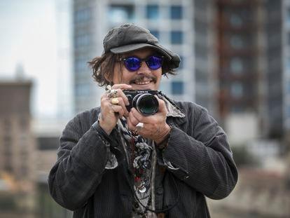 Johnny Depp, en Barcelona, en abril.