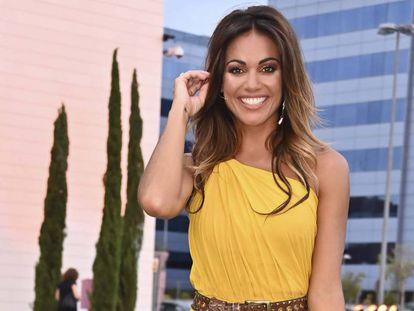 La presentadora Lara Álvarez, en julio.