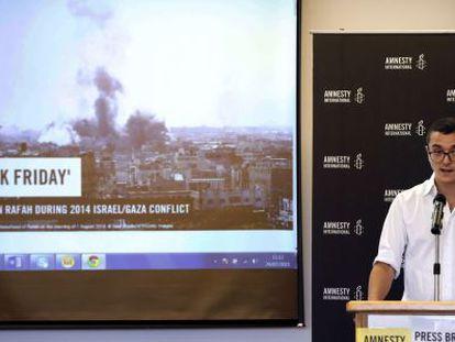 Presentación del informe de Amnistía Internacional en Jerusalén.