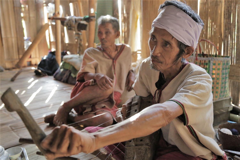 Miembros del pueblo Karen de la región de Bago (Myanmar).