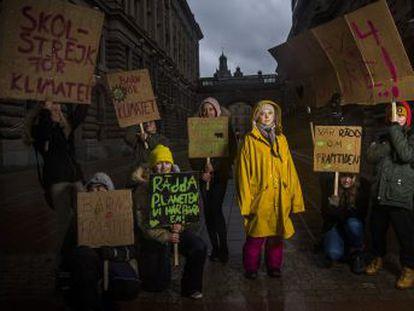 La adolescente sueca ha impulsado una huelga mundial para implicar a los políticos en la lucha contra el cambio climático