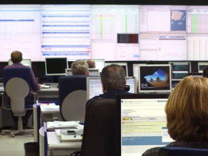 Centro de control de la Agencia Tributaria para la campaña de la Renta 2018.
