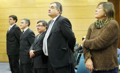 Eufemiano Fuentes, José Ignacio Labarta,Vicente Beld, Manolo Saiz y Yolanda Fuentes.