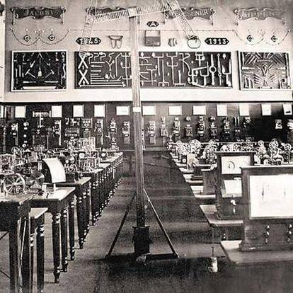 Un pequeño museo rinde tributo al trabajo de un pionero de la tecnología perdido. En la imagen, la sala del telégrafo en el Mundaneum original.