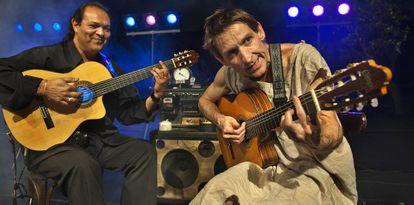 Albert Plá junto a Diego Cortés en uno de sus conciertos de 'Tenemos un problema'.