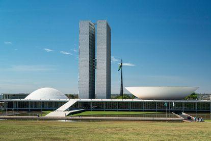 El Congreso Nacional de Brasil, en Brasilia, una de las obras señeras de Oscar Niemeyer.