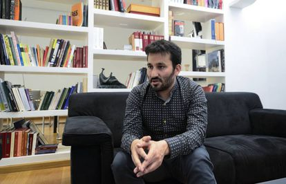 El consejero valenciano de Educación, Cultura y Deporte, Vicent Marzà, durante la entrevista.