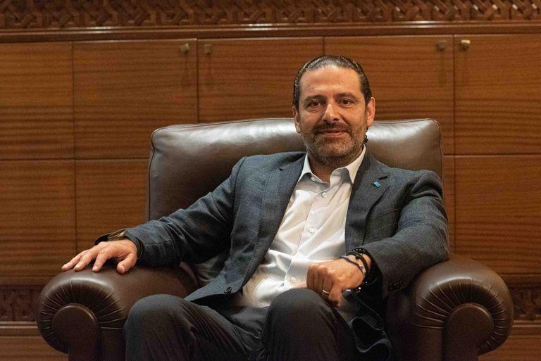 Saad Hariri, este miércoles durante la entrevista en su casa de Beirut.