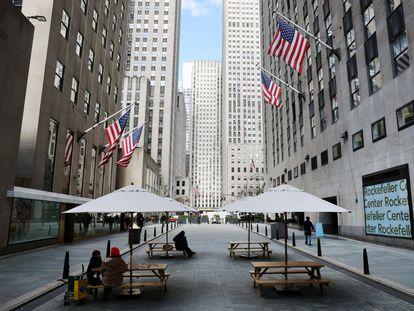 Una zona de oficinas de Manhattan (Nueva York) semivacía, la semana pasada.