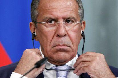 El ministro de Exteriores ruso Serguéi Lavrov.