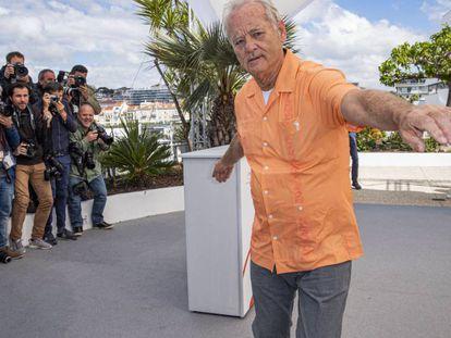 Bill Murray, el 15 de mayo, en el festival de Cannes. Foto: OLIVIER BORDE / BESTIMAGE / GTRES. En el vídeo: fragmento del documental de TCM.