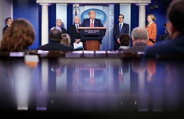 Donald Trump en la rueda de prensa del pasado 25 de marzo en la Casa Blanca.