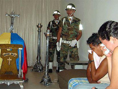 El sepelio de un soldado asesinado el pasado octubre en departamento de Norte de Santander.